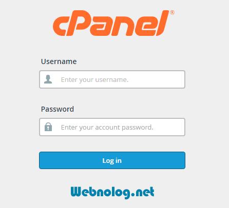 صفحه ورود Cpanel