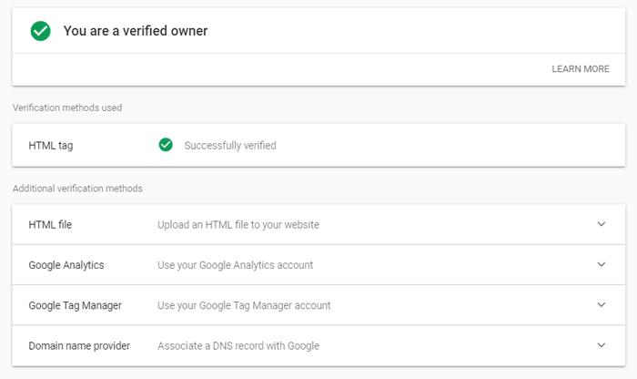 روش های مختلف تایید سایت در Google Search Console